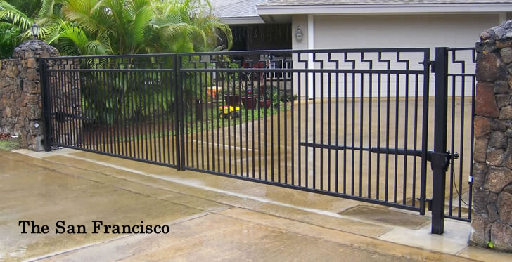 Driveway Gates Wrought Iron Gates Bi Parting Amp Swing