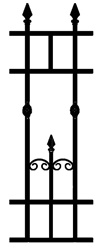 Hydepark Wrought Iron Infill Fence Panel