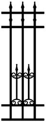 Montclair Wrought Iron Infill Fence Panel