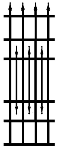 Strasbourg Wrought Iron Infill Fence Panel Strasbourg