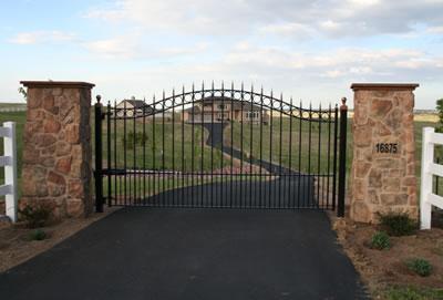 Single Swing Wrought Iron Gates