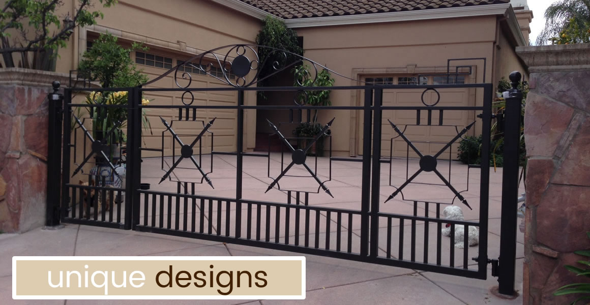 Selecting A Driveway Gate Size Swing Type Layout