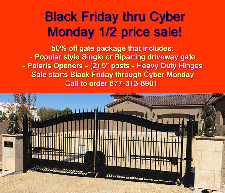 Black Friday 50 Off Driveway Gate Sale And Polaris Gate