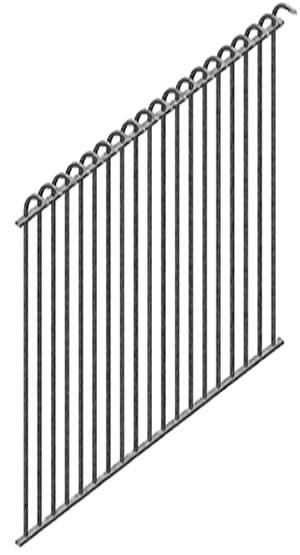 Ornamental wrought iron fence panels for gardens pools