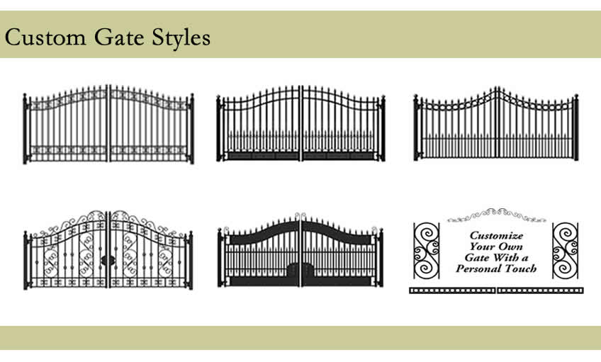 Wrought Iron Gate Hardware - Posts, Latches, Locks, Hinges
