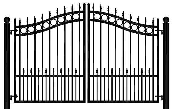 CONCORD 10' BIPARTING SWING DRIVEWAY GATE DH